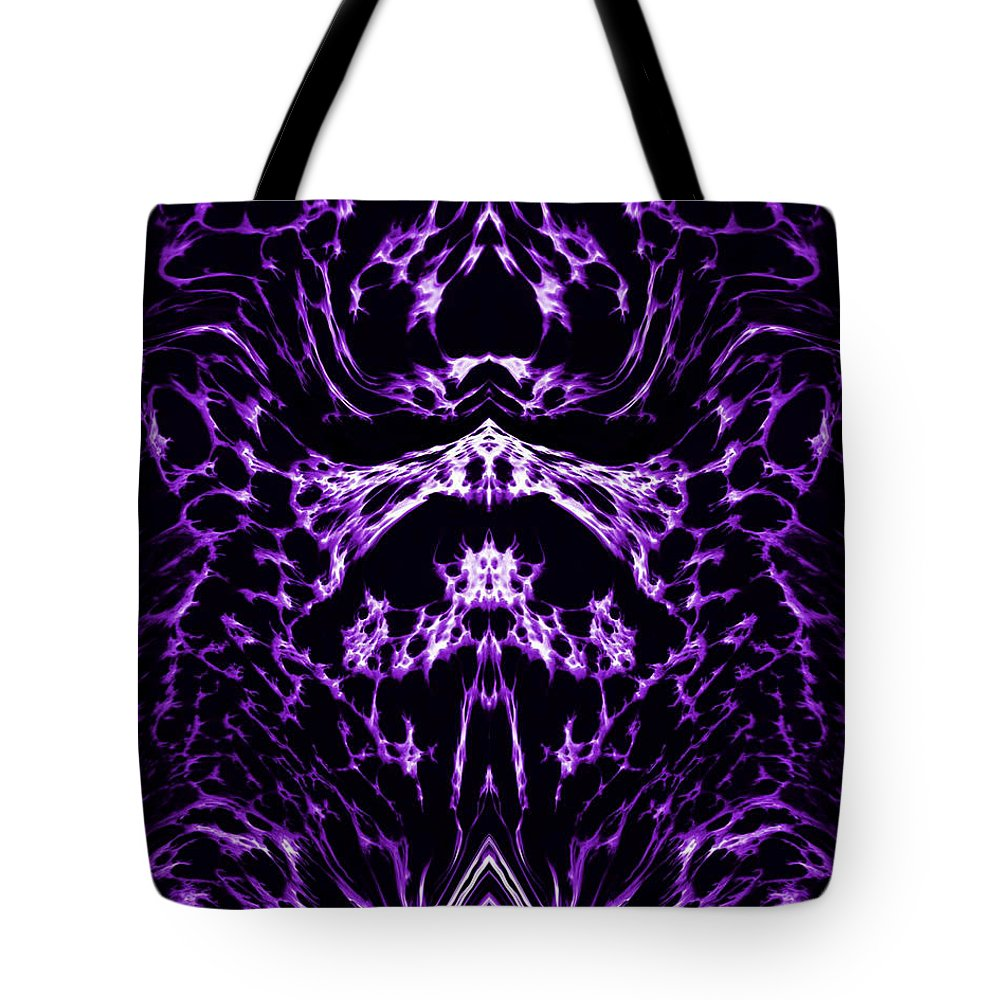 Original Tote Bag featuring the painting Purple Series 1 by J D Owen