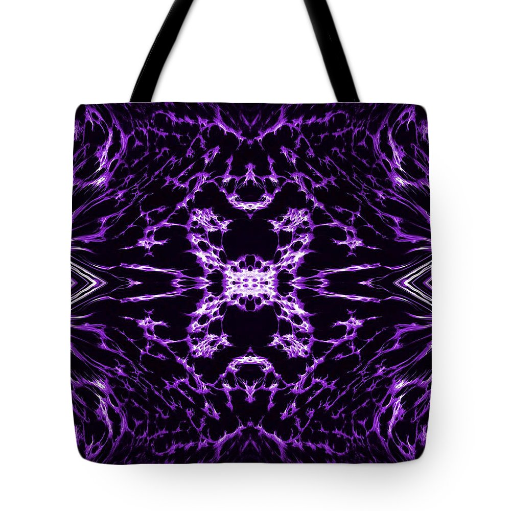 Original Tote Bag featuring the painting Purple Series 9 by J D Owen