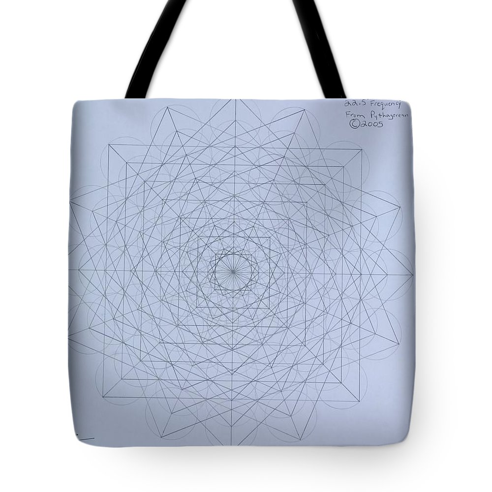 Jason Tote Bag featuring the drawing Quantum Foam by Jason Padgett