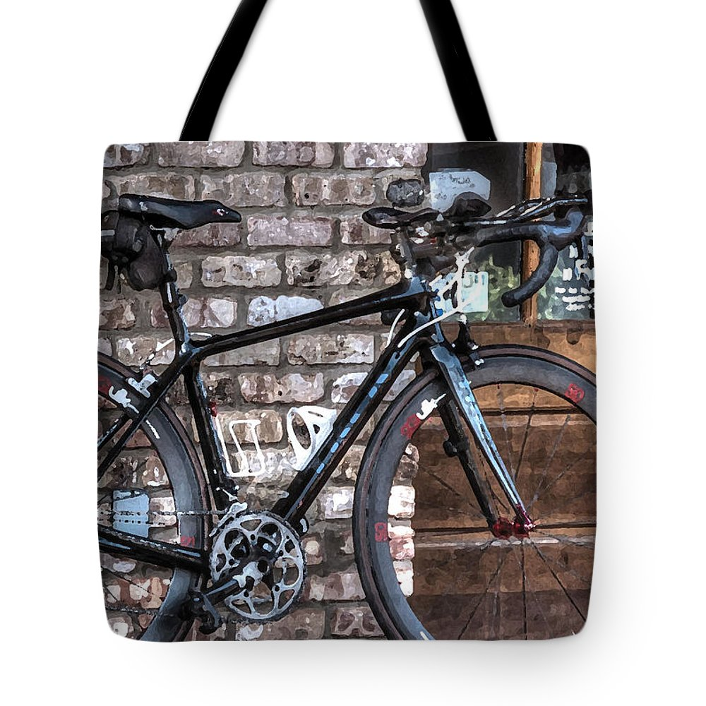 Mobile Tote Bag featuring the digital art 2 Quik by Michael Thomas