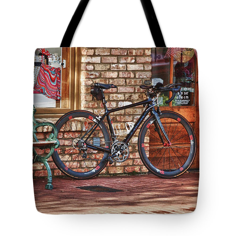 Mobile Tote Bag featuring the digital art 2 Quik Toned by Michael Thomas