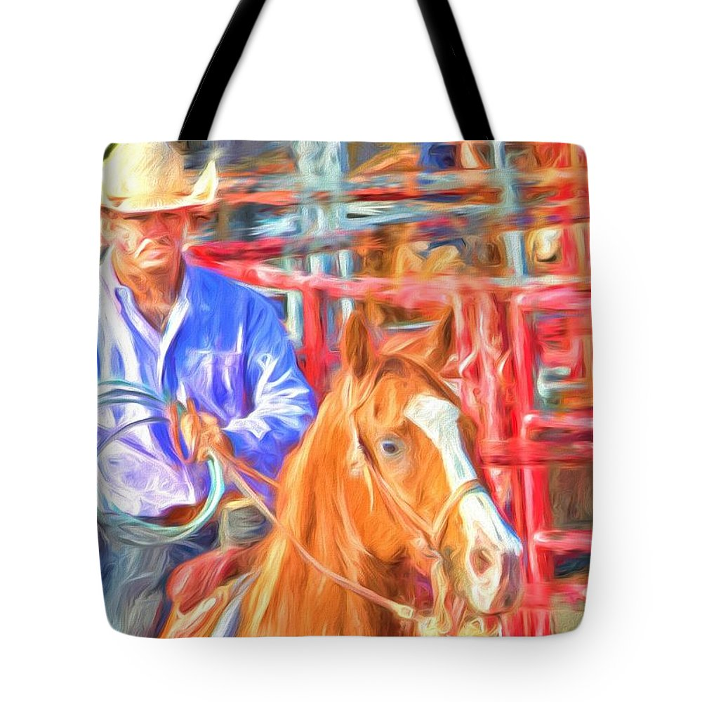 Roper Tote Bag featuring the photograph Ready by Alice Gipson