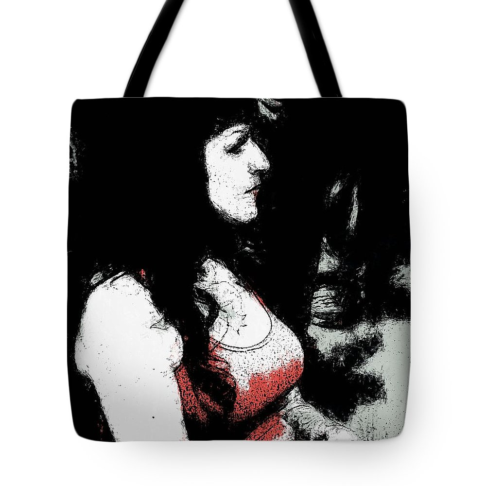 Woman Tote Bag featuring the photograph Red by Alice Gipson