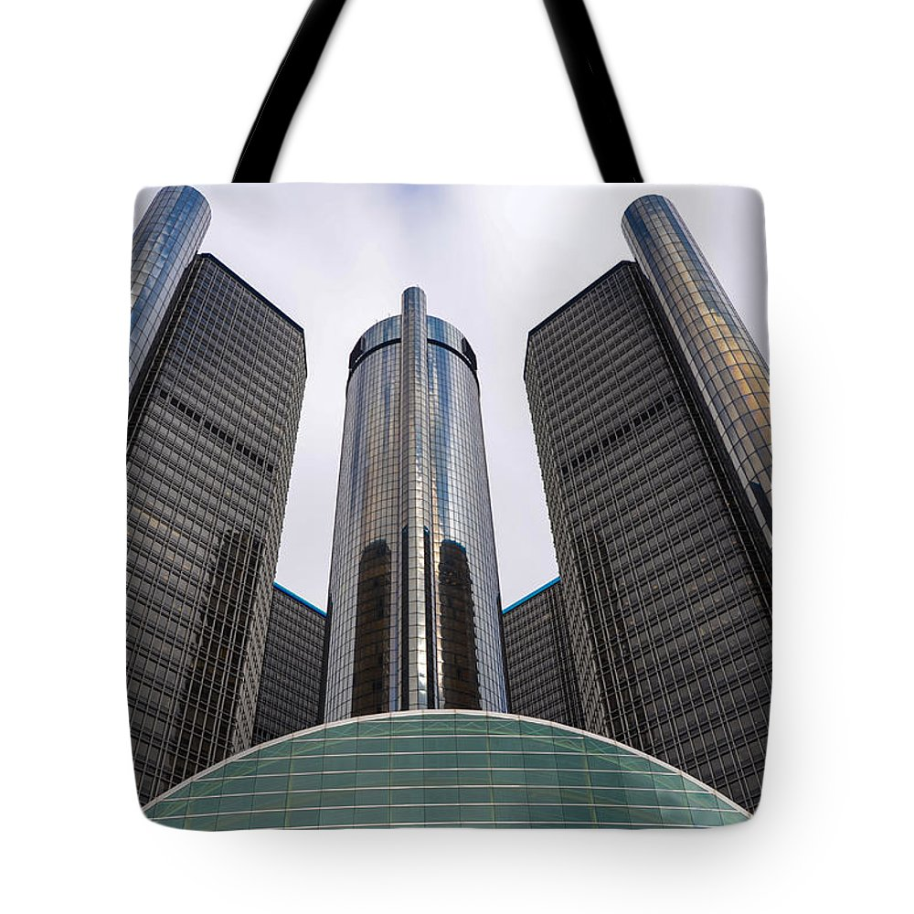 Detroit Tote Bag featuring the photograph Renaissance Center by Gales Of November