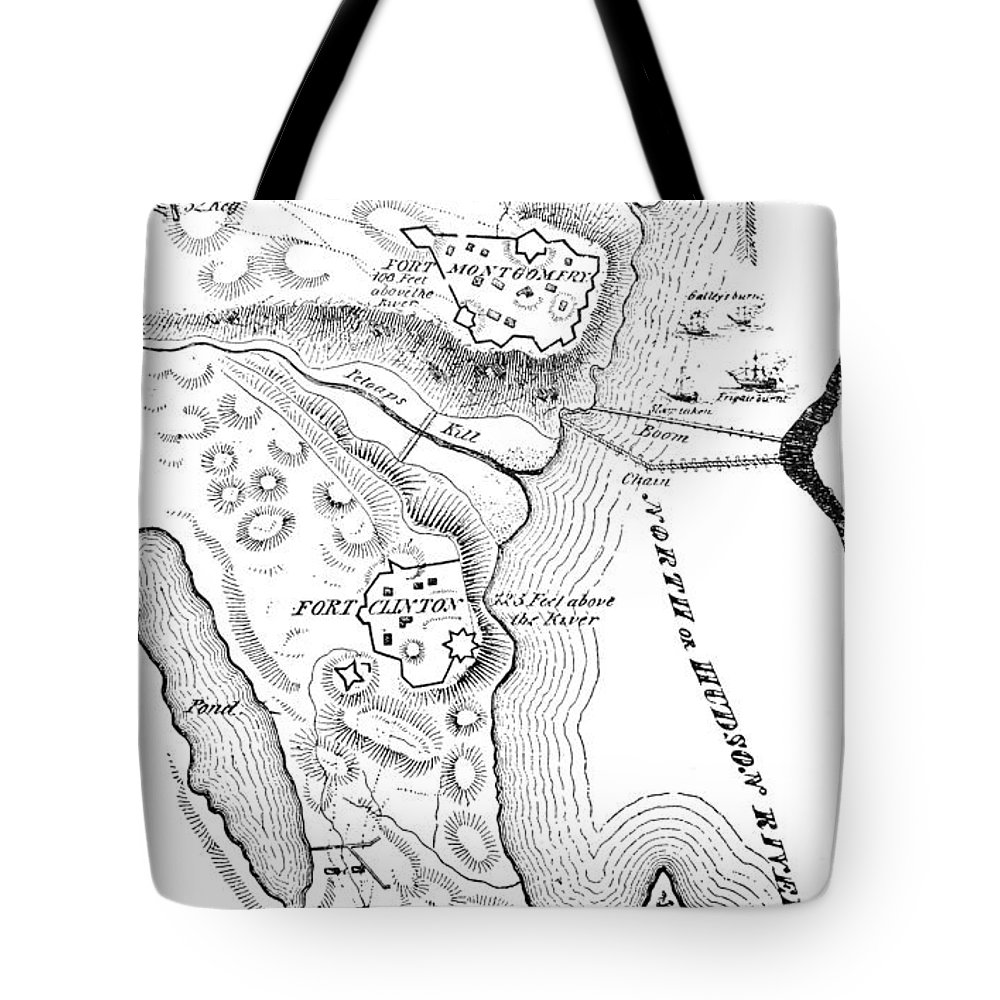 1777 Tote Bag featuring the photograph Revolutionary War Plan by Granger