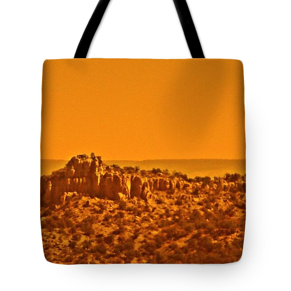 Mountain Tote Bag featuring the photograph Rim Rock Colorado by Randy J Heath