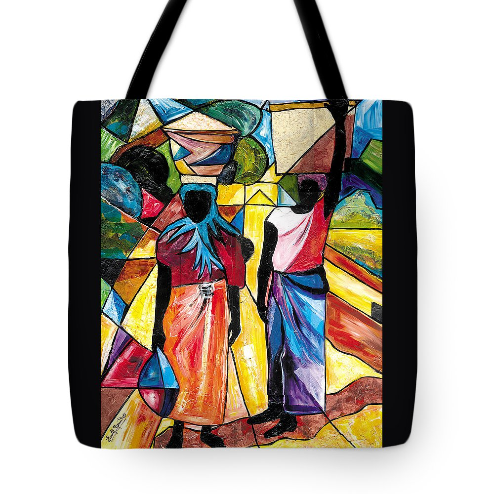 Everett Spruill Tote Bag featuring the painting Road to the Market by Everett Spruill