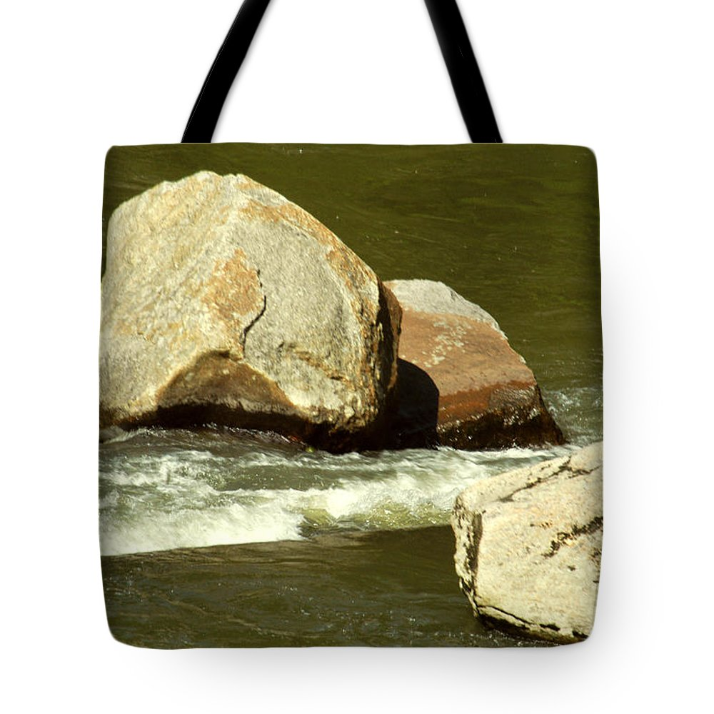 River Tote Bag featuring the photograph 2 Rocks Elk River Tn by Carlene Salazar