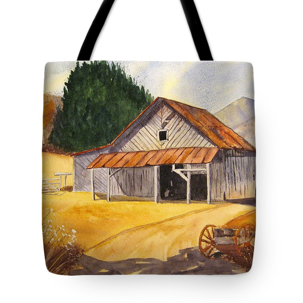 Landscape Tote Bag featuring the painting Rocky Waters by Julia RIETZ