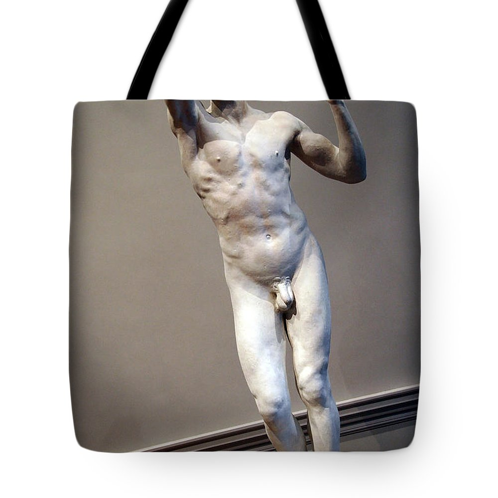 The Tote Bag featuring the photograph Rodin's The Vanguished -- 1 by Cora Wandel