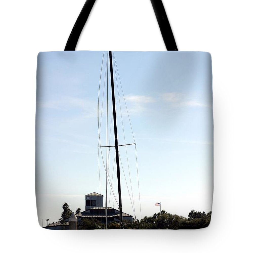 Dock Tote Bag featuring the photograph Sailboat by Henrik Lehnerer