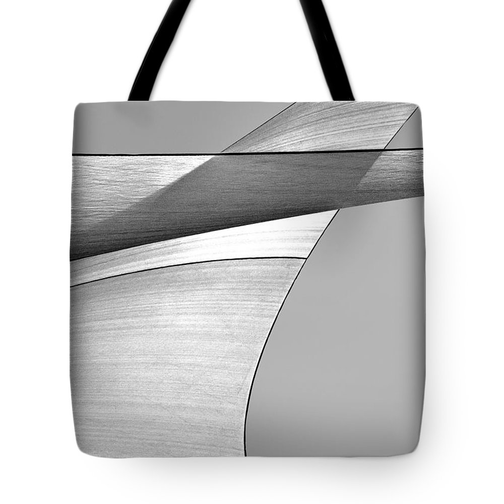 Abstract Tote Bag featuring the photograph Sailcloth Abstract Number 4 by Bob Orsillo