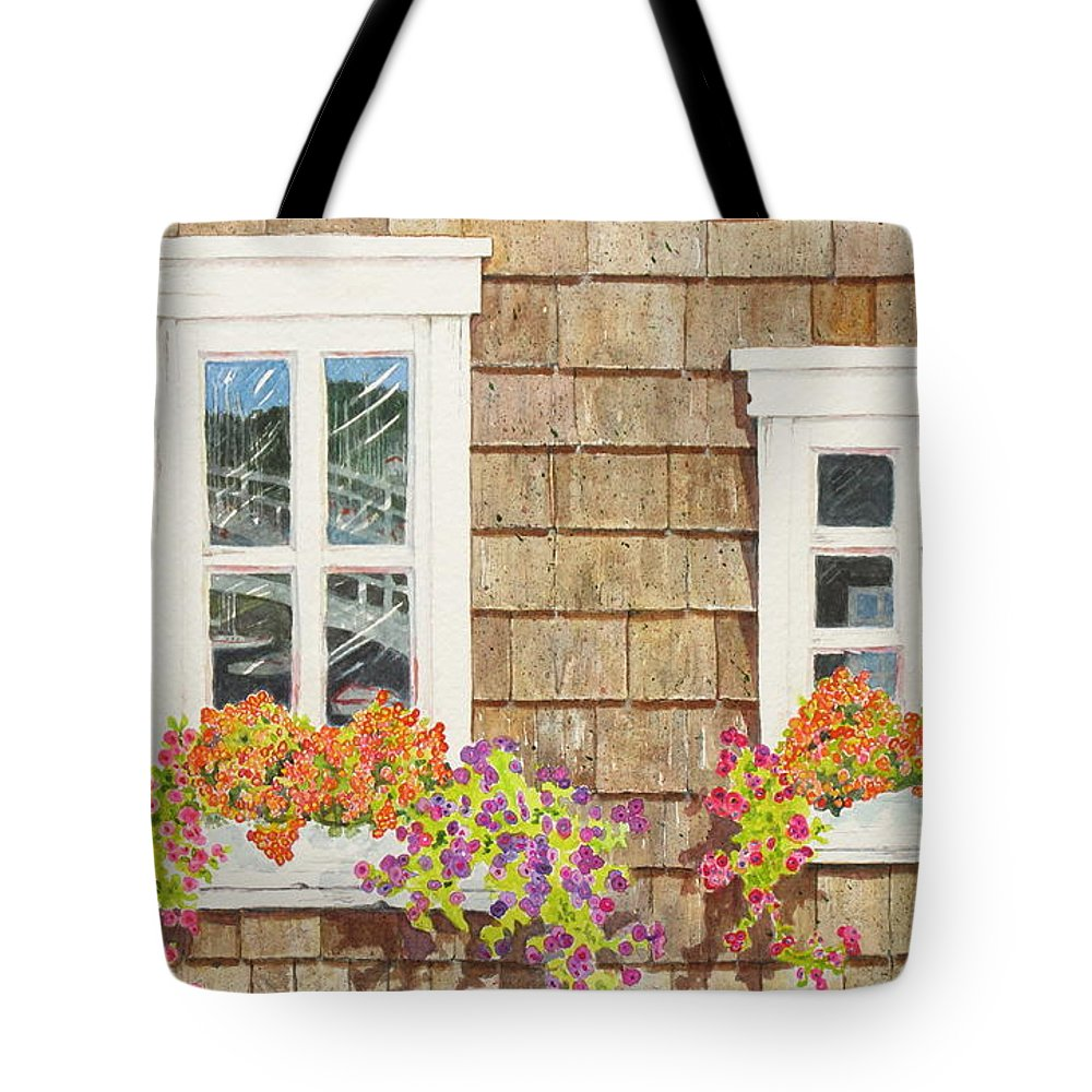 Seaside Tote Bag featuring the painting Seaside Vision by Mary Ellen Mueller Legault