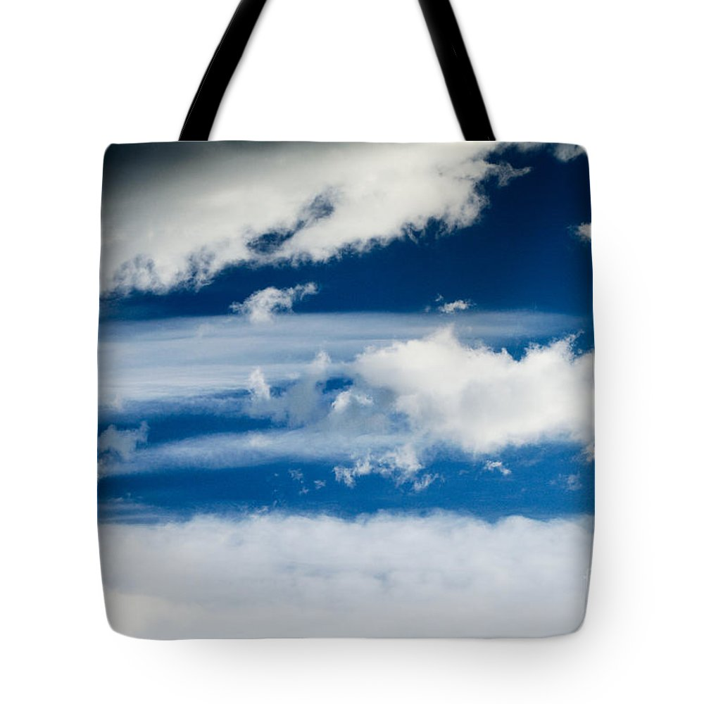 Day Tote Bag featuring the photograph Sky With Clouds by Dan Radi