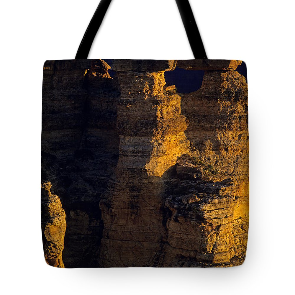 Grand Canyon National Park Tote Bag featuring the photograph South Rim Grand Canyon Taken Near Mather Point Sunrise Light On by Jim Corwin