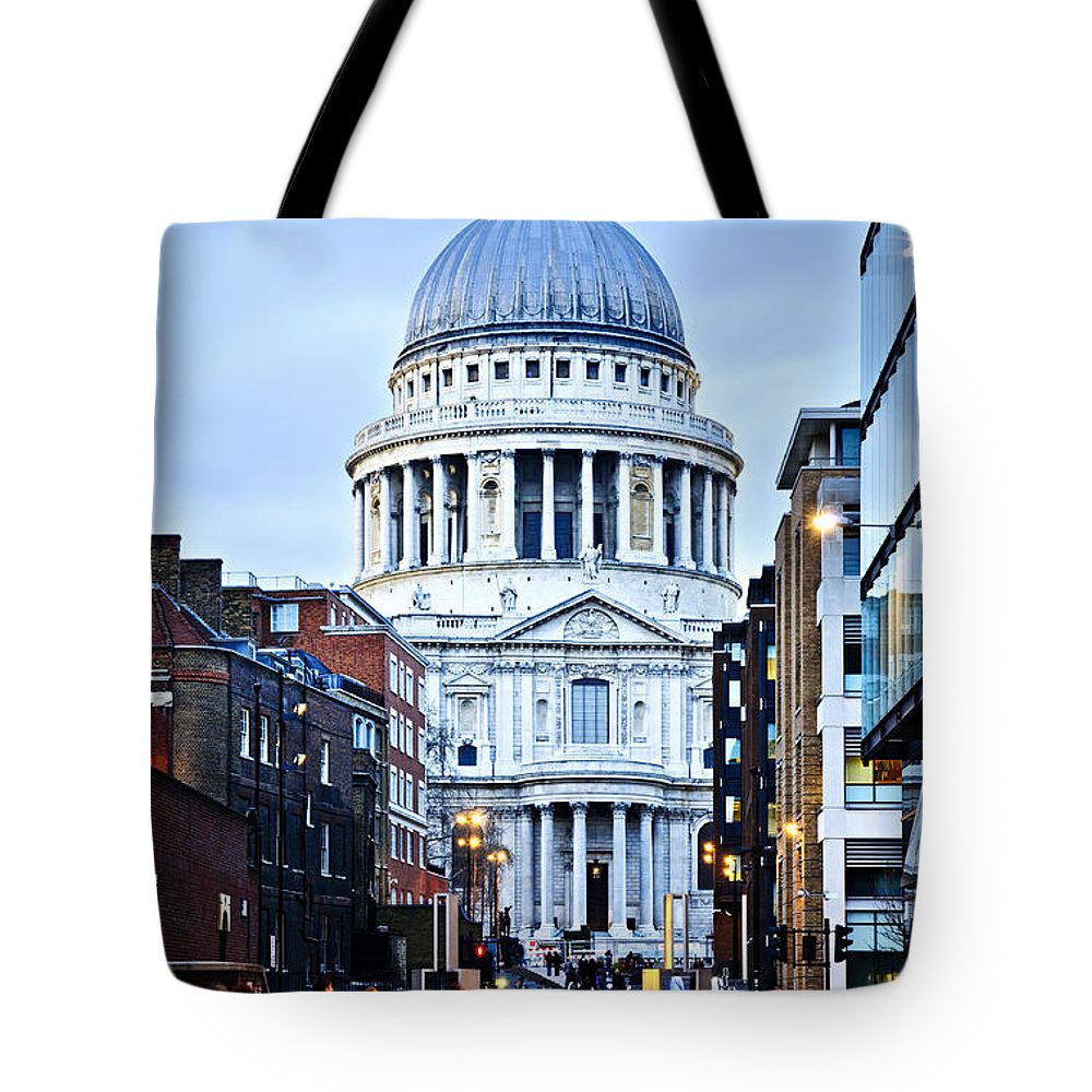 Saint Tote Bag featuring the photograph St. Paul's Cathedral London At Dusk by Elena Elisseeva