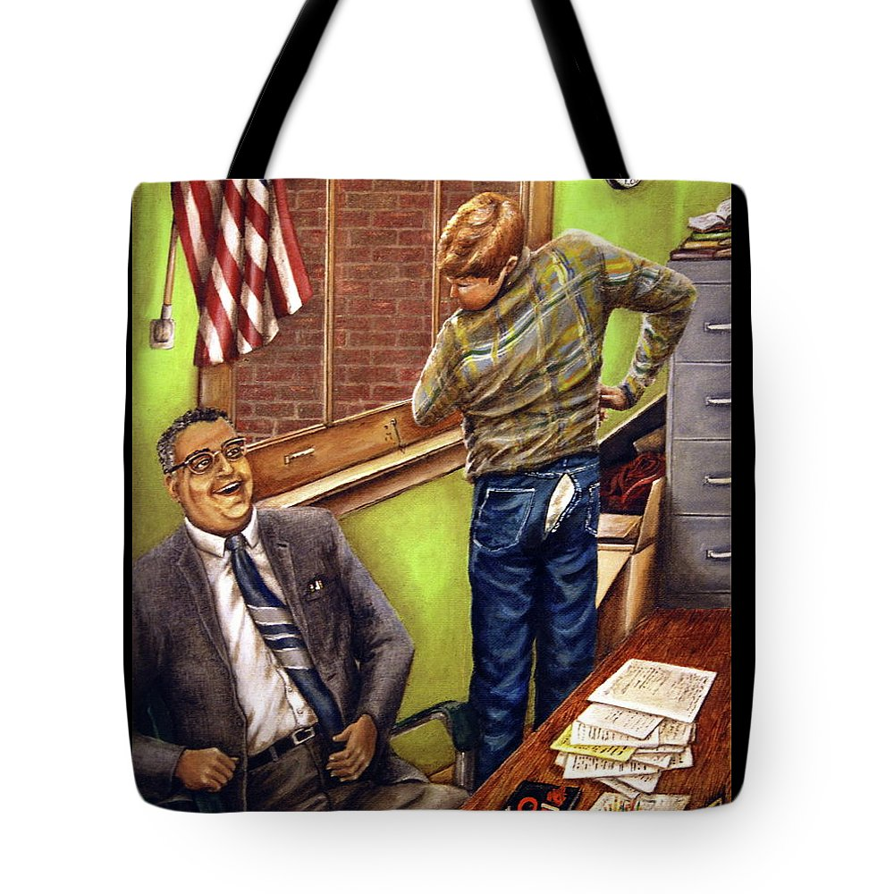 Linda Simon Tote Bag featuring the painting Stars Stripes And Exposure by Linda Simon