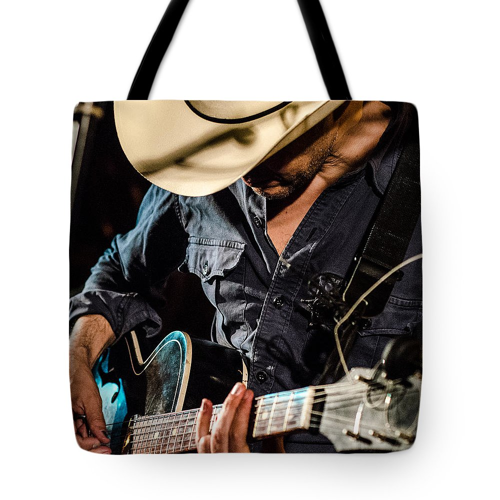 Guitar Photographs Tote Bag featuring the photograph Stella Burns by Andrea Mazzocchetti