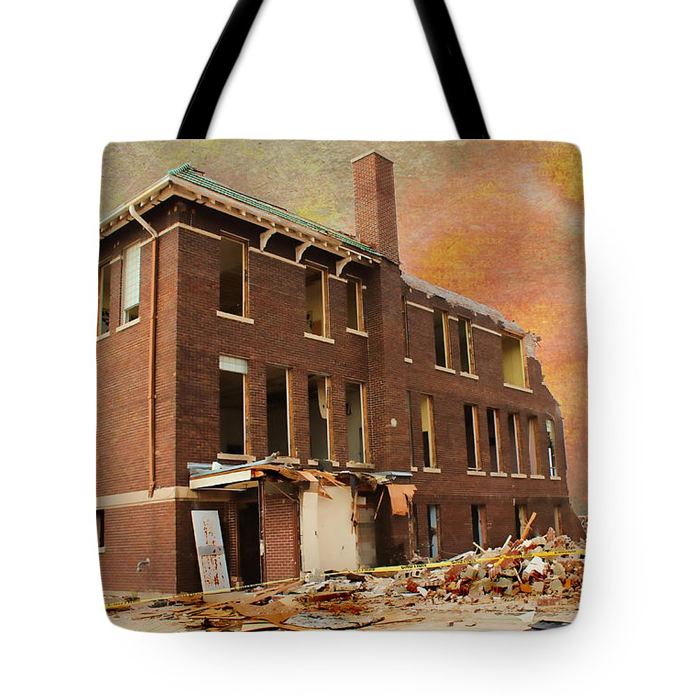 School Tote Bag featuring the photograph Stripped by Sylvia Thornton