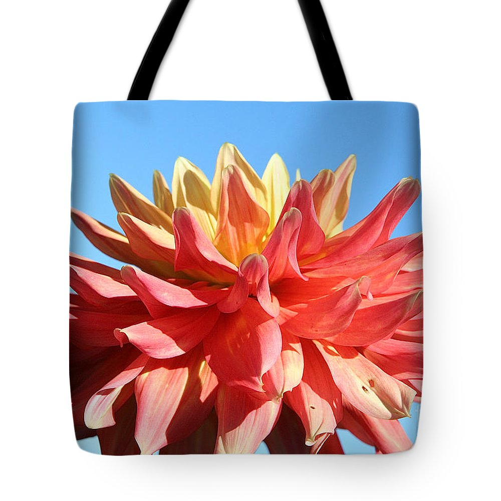 Flower Tote Bag featuring the photograph Sunny Center by Susan Herber