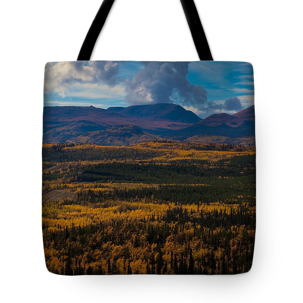 Adventure Tote Bag featuring the photograph Taiga In Fall by Stephan Pietzko