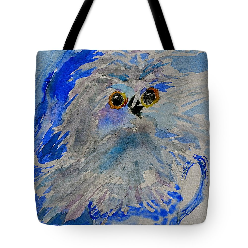 Owl Tote Bag featuring the painting Teacup Owl by Beverley Harper Tinsley