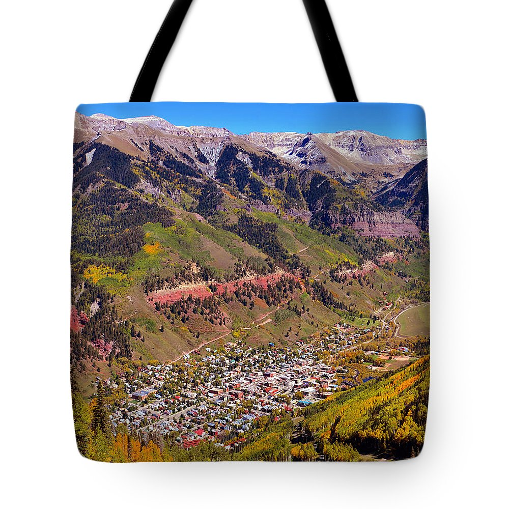 Fine Art Photography Tote Bag featuring the photograph Telluride by David Lee Thompson