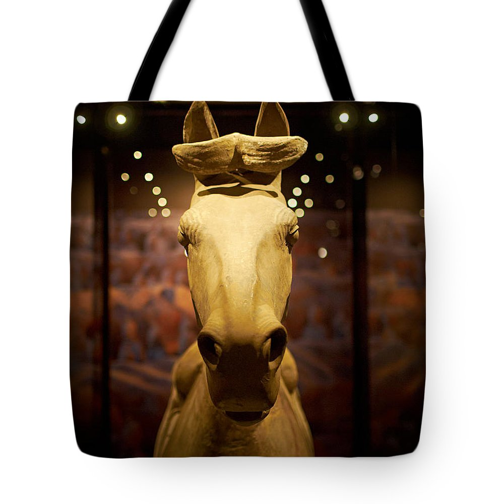 Finland Tote Bag featuring the photograph Terracotta Soldiers. The Horse by Jouko Lehto