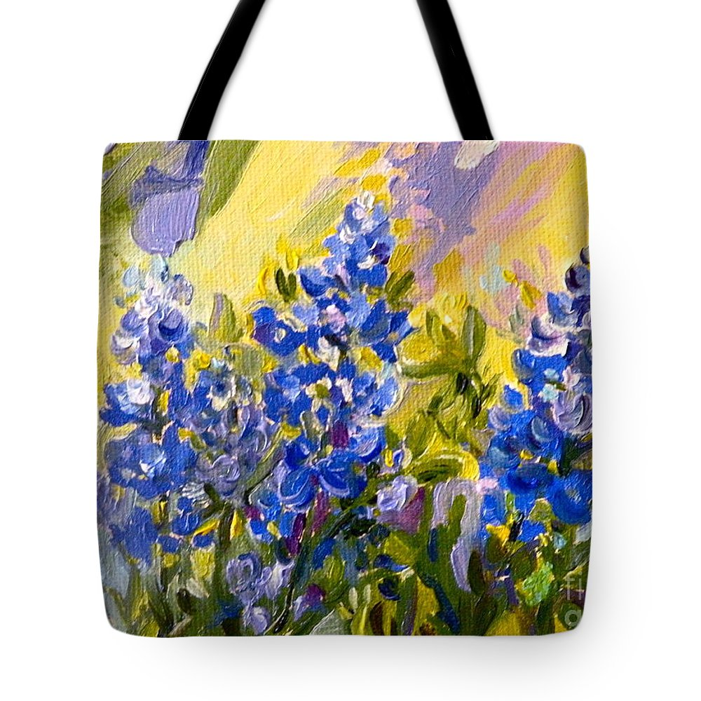 Bluebonnets Tote Bag featuring the painting Texas Our Texas by Patsy Walton