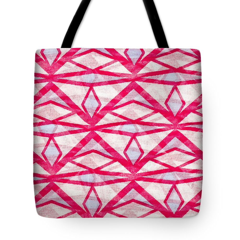 Backdrop Tote Bag featuring the photograph Textile Pattern by Tom Gowanlock
