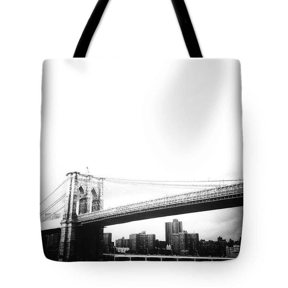 Brooklyn Bridge Tote Bag featuring the photograph The Brooklyn Bridge by Natasha Marco