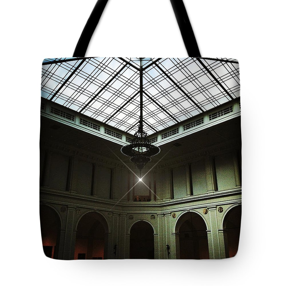 Brooklyn Museum Tote Bag featuring the photograph The Brooklyn Museum's Beaux-arts Court by Natasha Marco