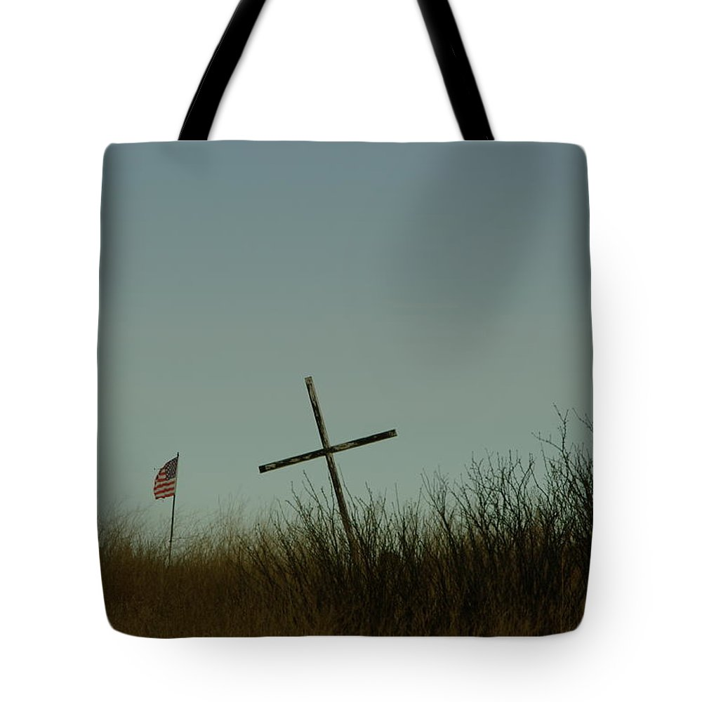 Cross Tote Bag featuring the photograph The Fallen by Jeff Swan