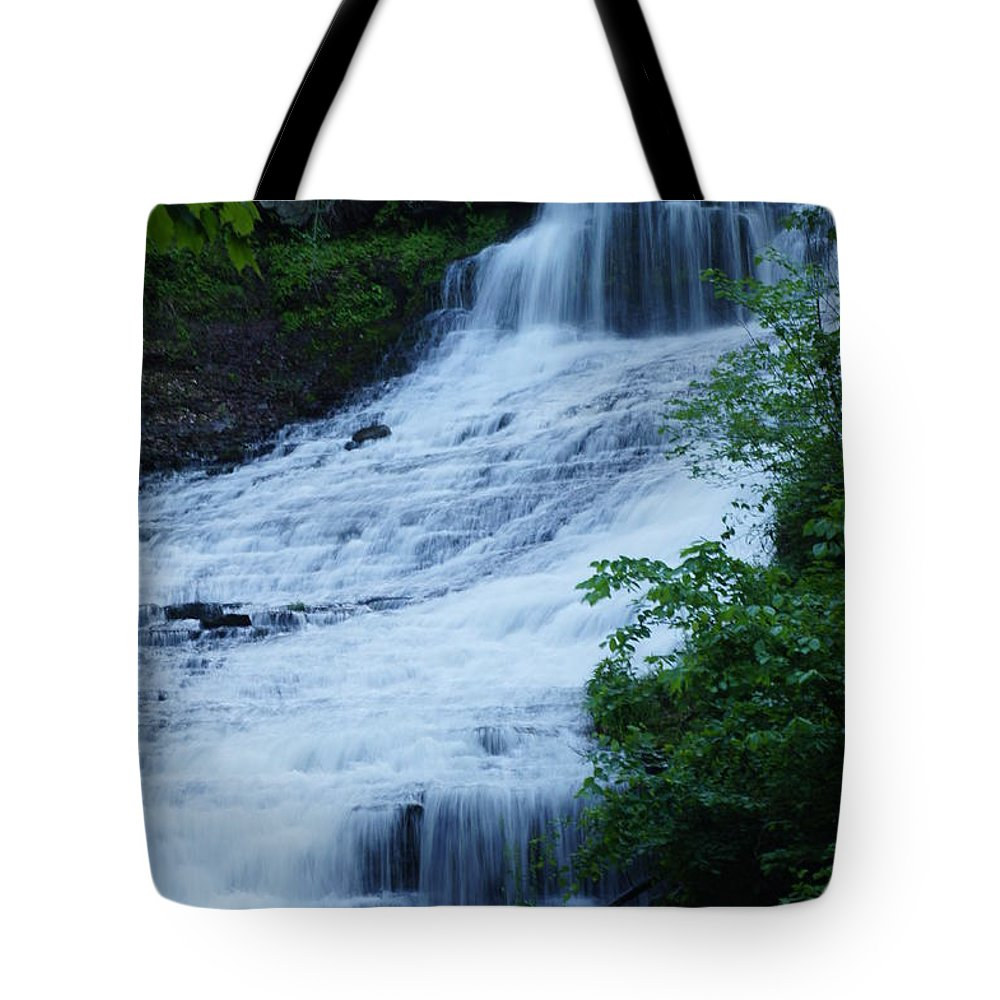 Waterfalls Tote Bag featuring the photograph The Falls by Jeffery L Bowers