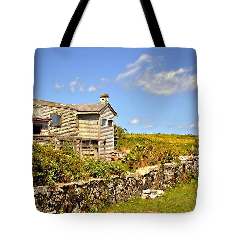 Farm Tote Bag featuring the photograph Island Farm by Marysue Ryan