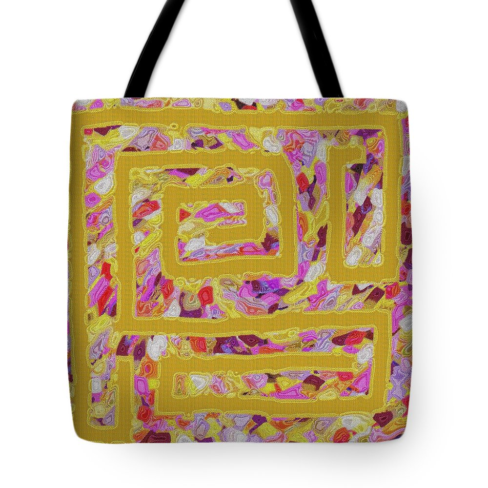Golden Tote Bag featuring the digital art The Golden Road by Alec Drake