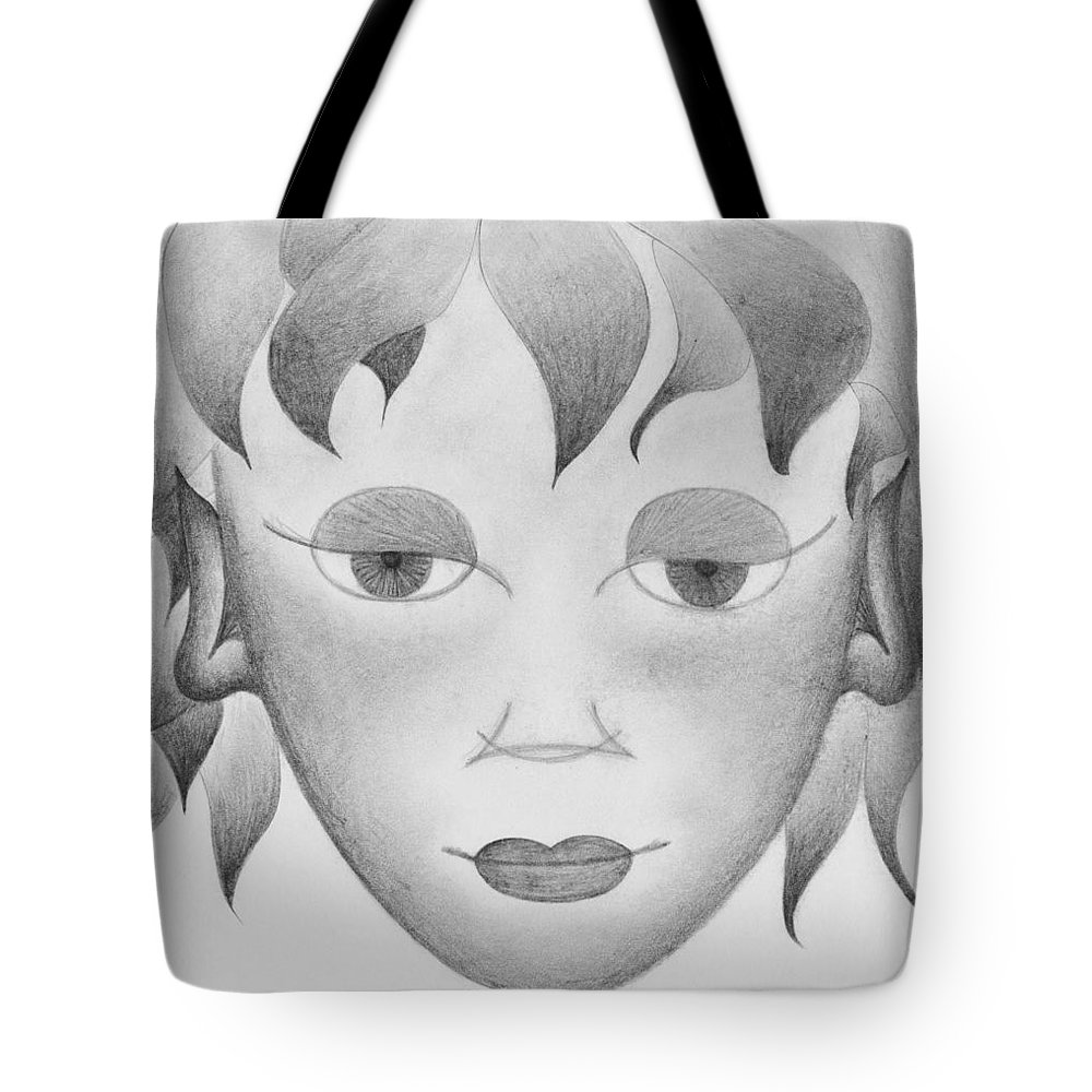 The Little Prince Tote Bag featuring the drawing The Little Prince by Marianna Mills
