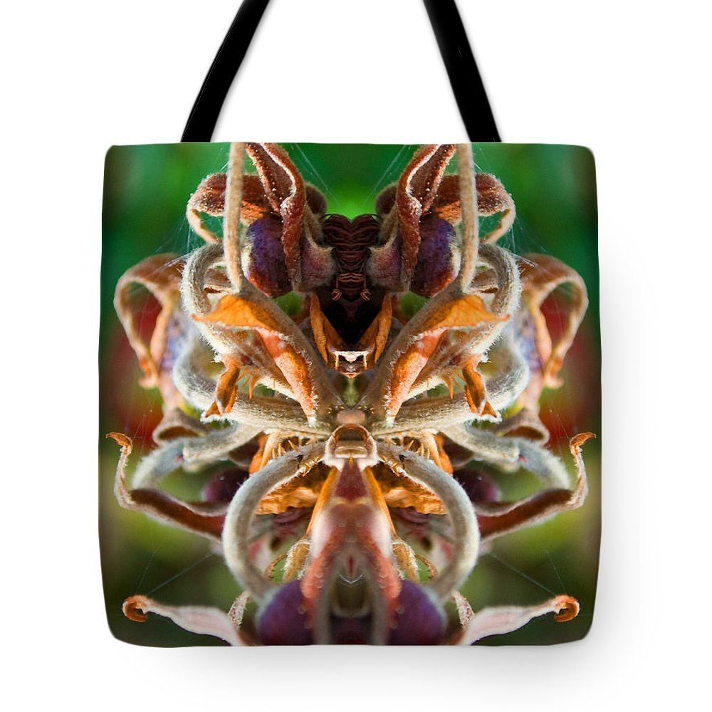 Alien Tote Bag featuring the photograph The Mating by WB Johnston