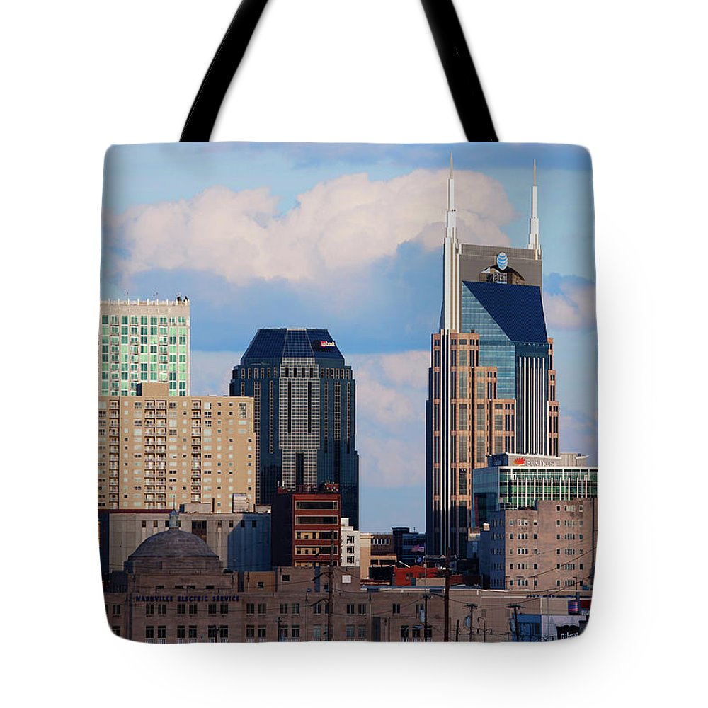 Photography Tote Bag featuring the photograph The Nashville Skyline As Viewed by Panoramic Images