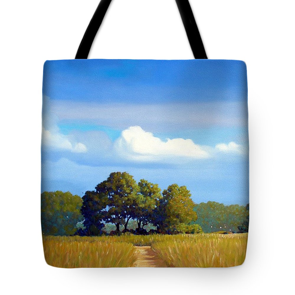 Landscape Tote Bag featuring the painting The Path by Kevin Lawrence Leveque