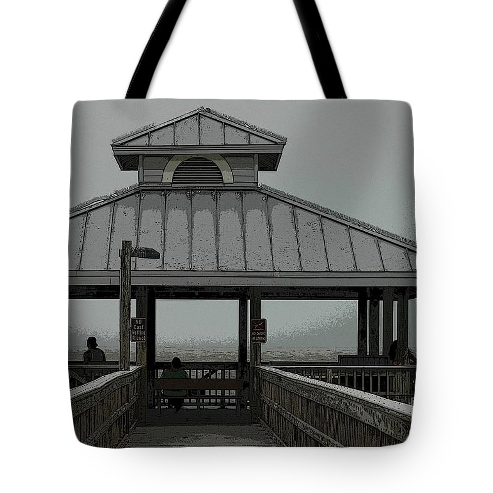 Pier Tote Bag featuring the photograph The Pier by Kathleen Struckle