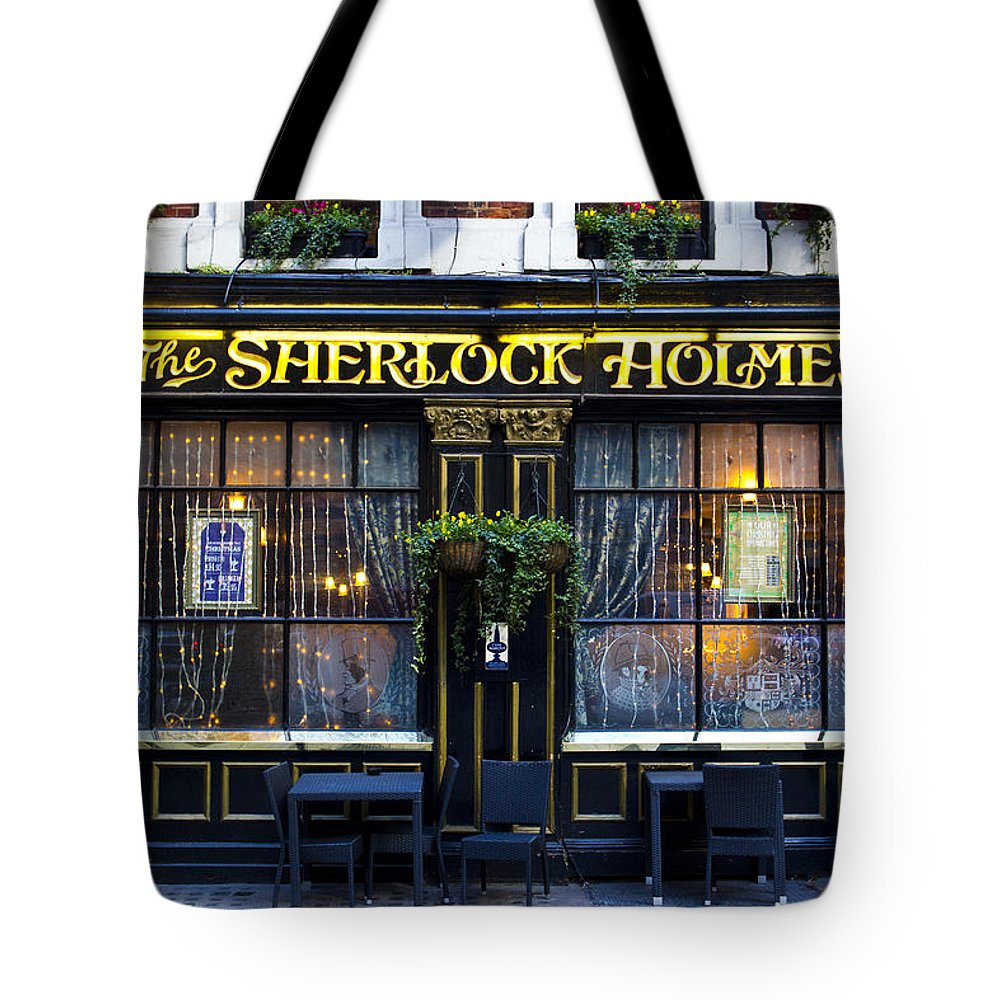Sherlock Holmes Tote Bag featuring the photograph The Sherlock Holmes Pub by David Pyatt