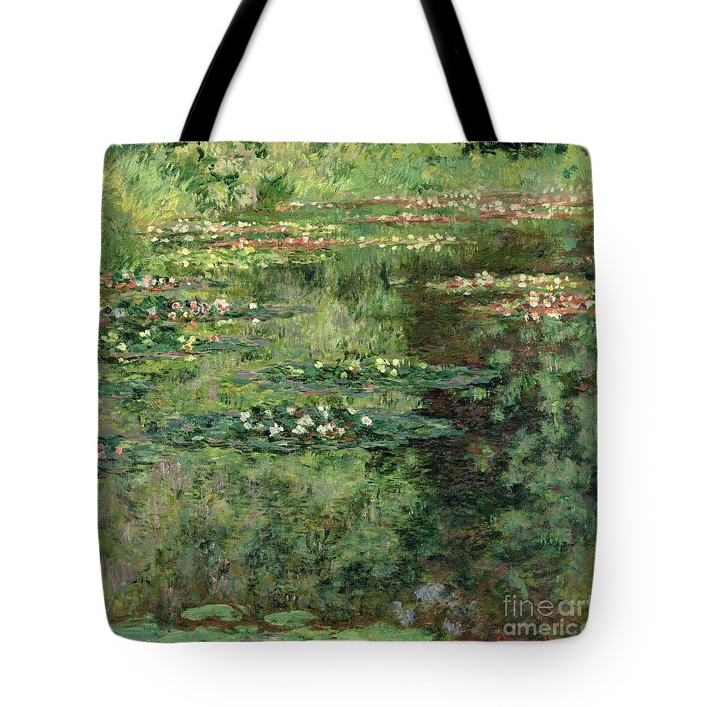 Etang Aux Nympheas Tote Bag featuring the painting The Waterlily Pond by Claude Monet