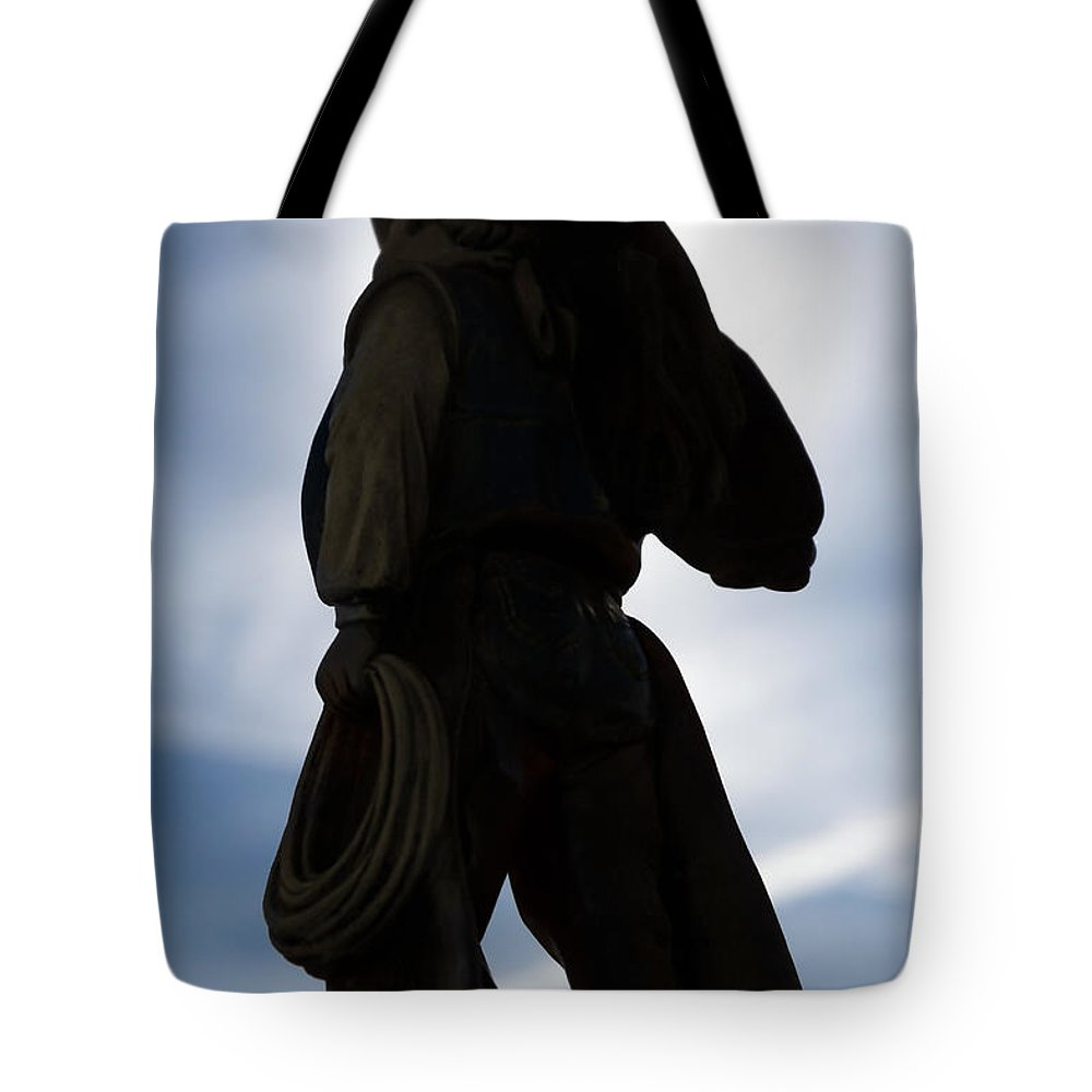 Cowboy Tote Bag featuring the photograph The Wild Breed by Doug Long