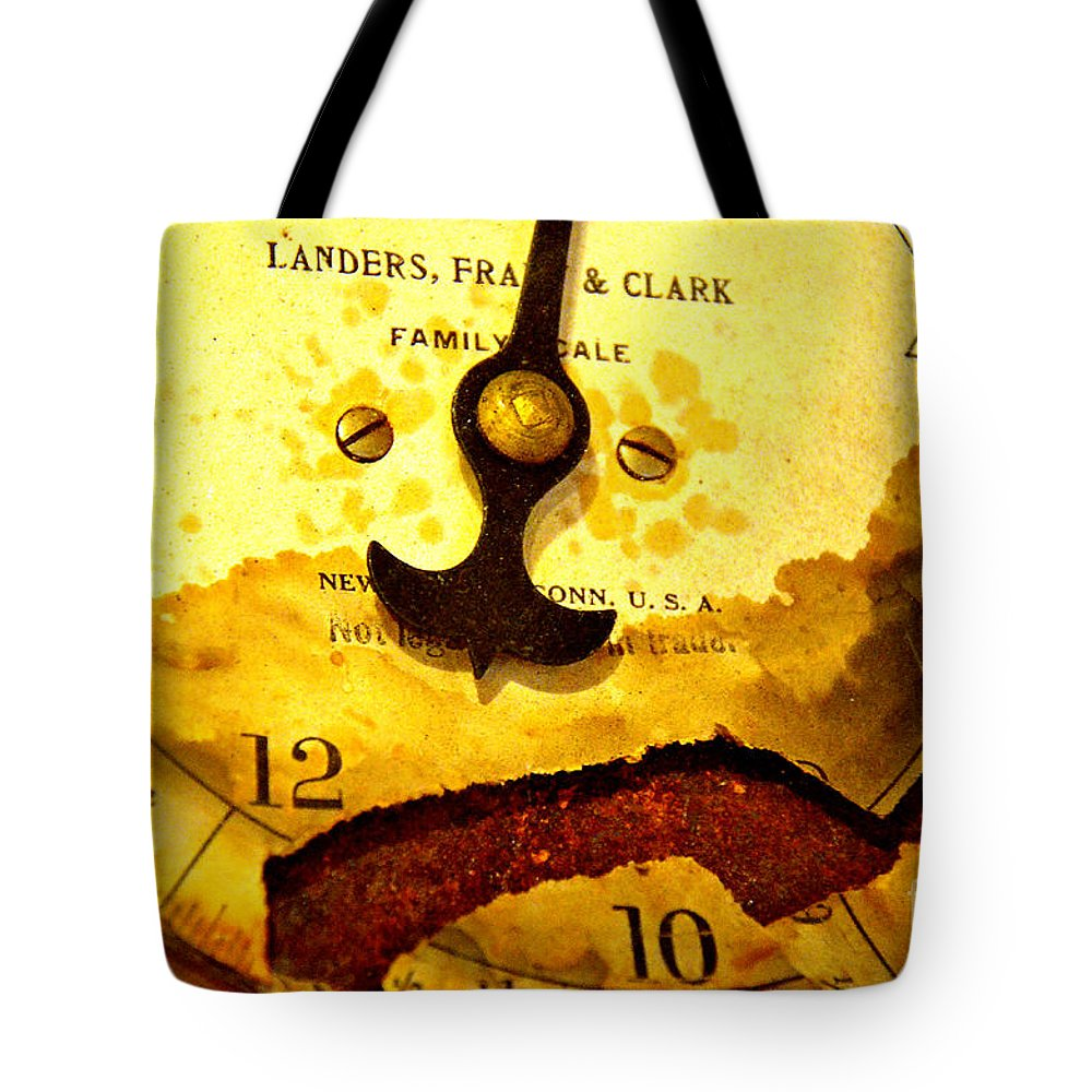 Abstract Tote Bag featuring the photograph Time Worn by Lauren Leigh Hunter Fine Art Photography