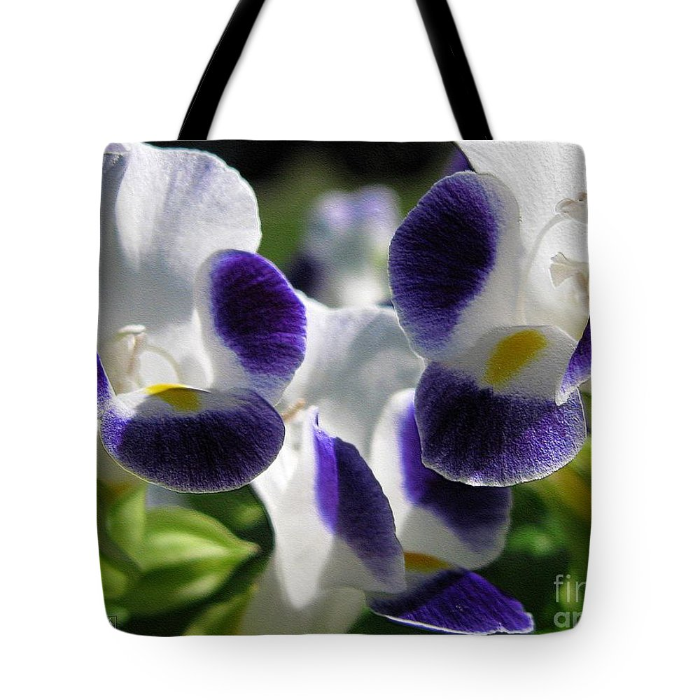 Mccombie Tote Bag featuring the photograph Torenia From The Duchess Mix by J McCombie