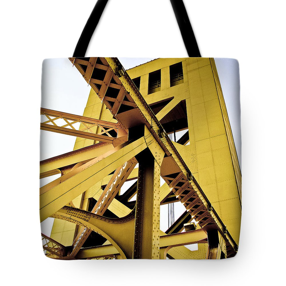 Streets Of Sacramento Tote Bag featuring the photograph Tower Bridge by Digital Kulprits