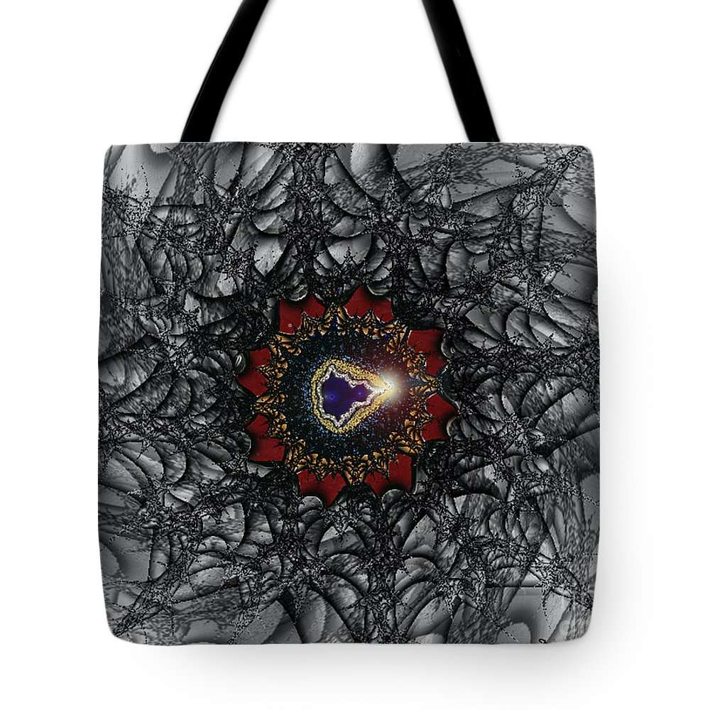 2-dimensional Tote Bag featuring the digital art Twisting by Dana Haynes