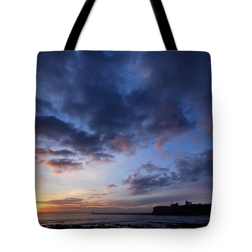 Tynemouth Tote Bag featuring the photograph Tynemouth Sunrise by David Pringle