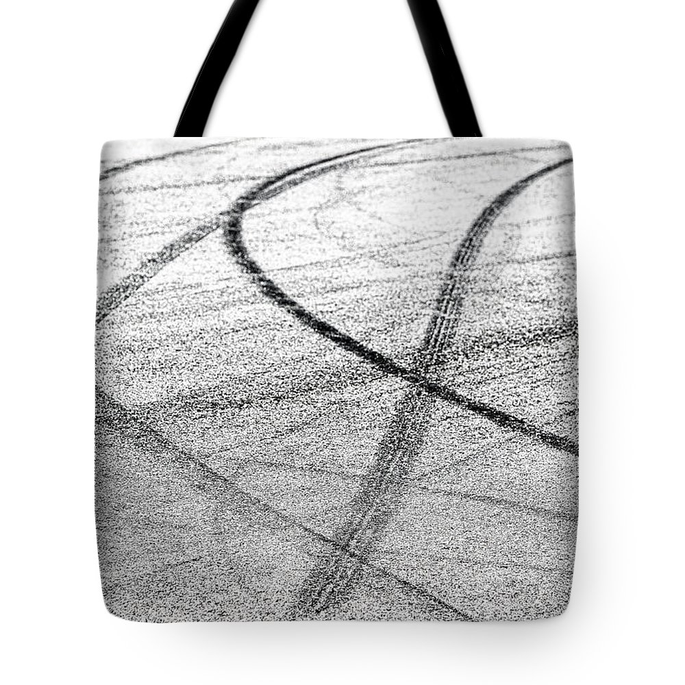 Tyre Tote Bag featuring the photograph Tyre Tracks by Jose Bispo